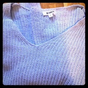 Super soft BB Dakota blue/gray knit sweater